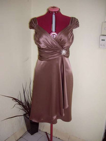 Coffee Satin Bridesmaid-1