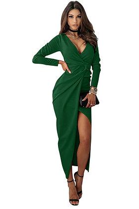 Forest Green Twist Front Dress