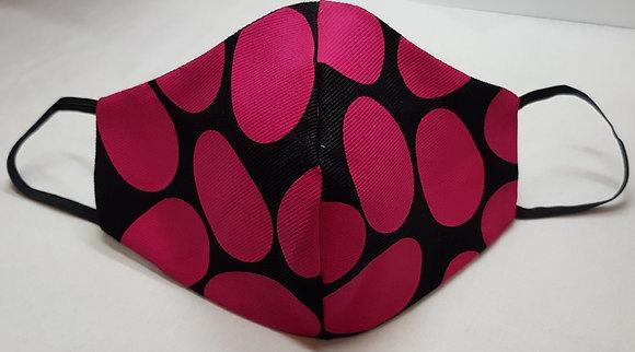 Fun Hot Pink Screen Print Face Mask