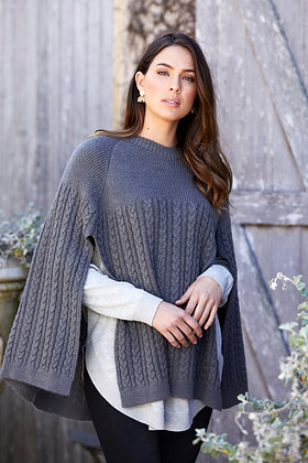 Grey Cape Cardigan