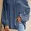Thumbnail: Blue Lace Balloon Sleeve Top