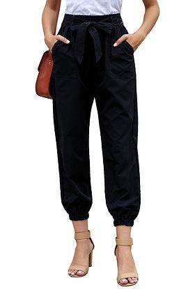 Black Belted Dress Pants