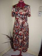 Casual Satin Floral Dress