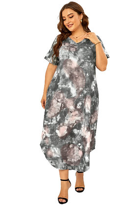 Tie Dye Summer Maxi Dress