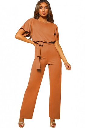 Oh So Glam Belted Wide Leg Jumpsuit