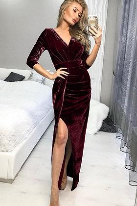 Deep Red Velvet Dress