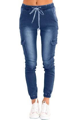 Draw String Cargo Jeans