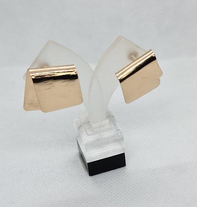 Gold Folded Statement Earrings