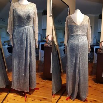 Baby Blue Beaded Dress
