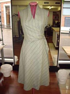 Stripe Wrap Dress