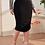 Thumbnail: Ruched Side Split Midi Skirt
