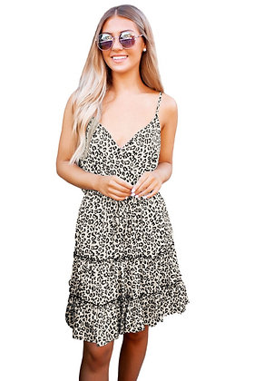 Leopard Print Ruffle Mini