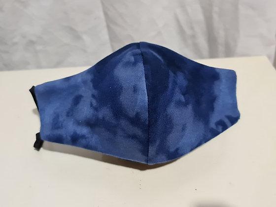 Blue on Blue Tie Dye Face Mask