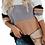 Thumbnail: Peach & Grey Color Block Sweater