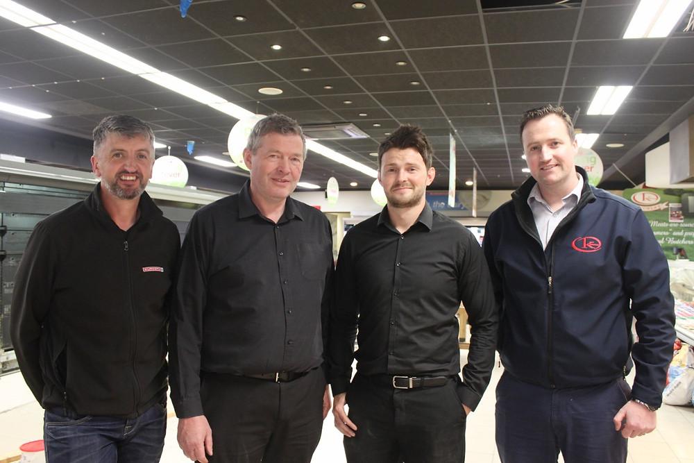 Ciaran Quinn(Eurospar Ireland), Patrick McBride, Micheal Buchanan & Conor Coyle From Kernans Eurospar Newtown