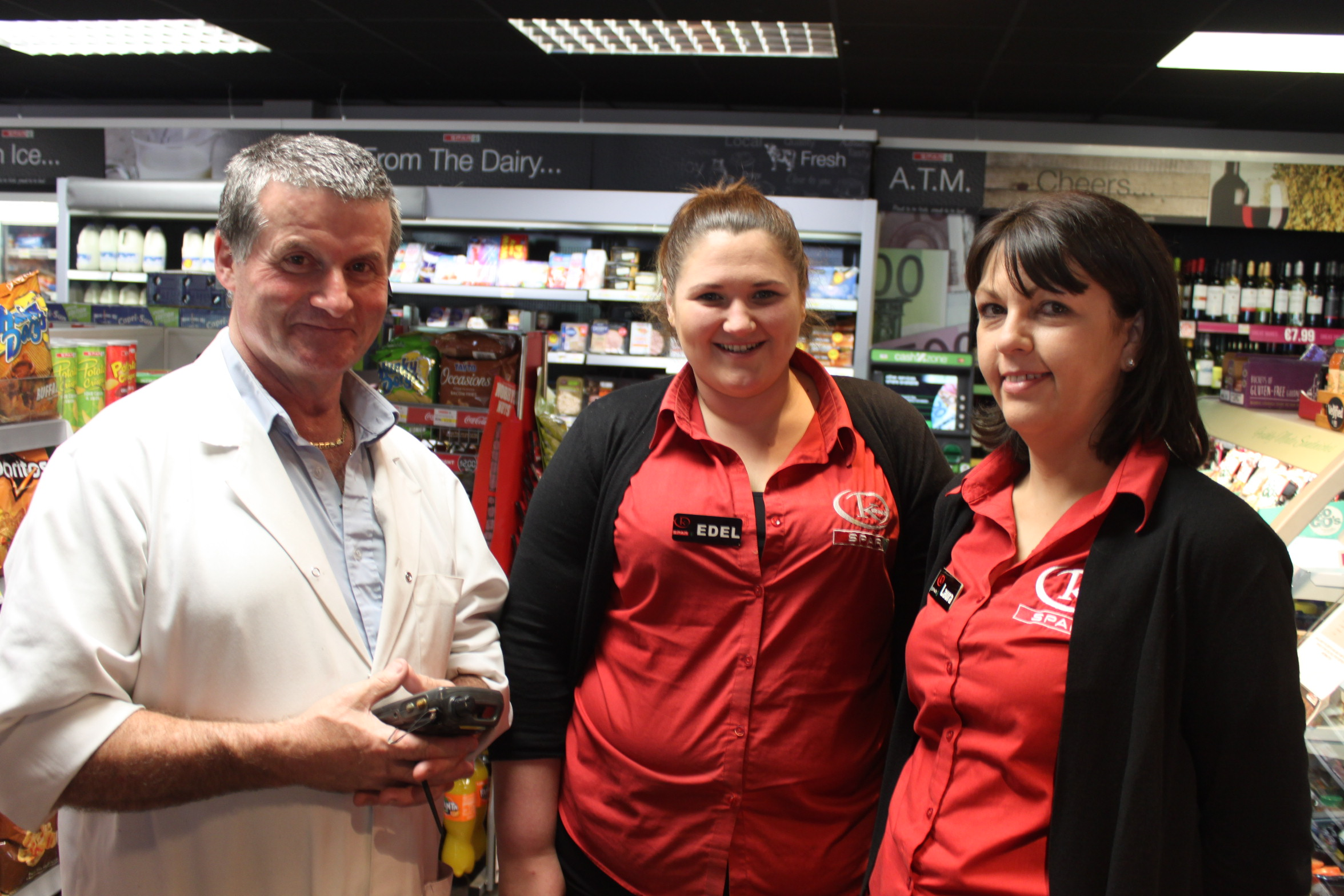 Laura and Edel with a supplier