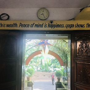 Health is wealth, Peace of mind is happiness, Yoga shows the way