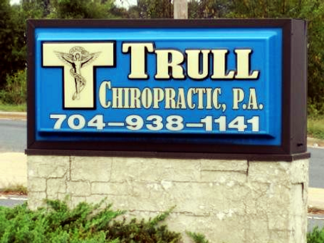 Trull Chiropractic sign with phone number