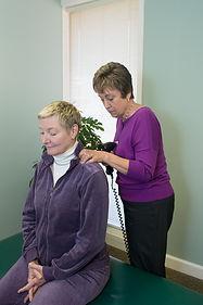 Chiropractic adjustment using Arthrostim