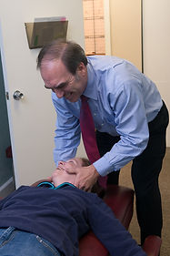 Chiropractic adjustment of an adult