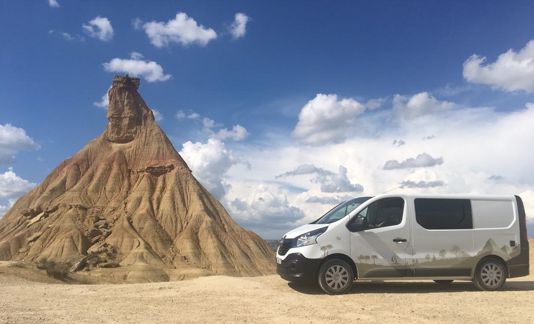 Camp In Van dans le désert