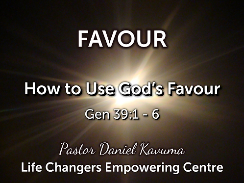 FAVOUR - How to live in Favour