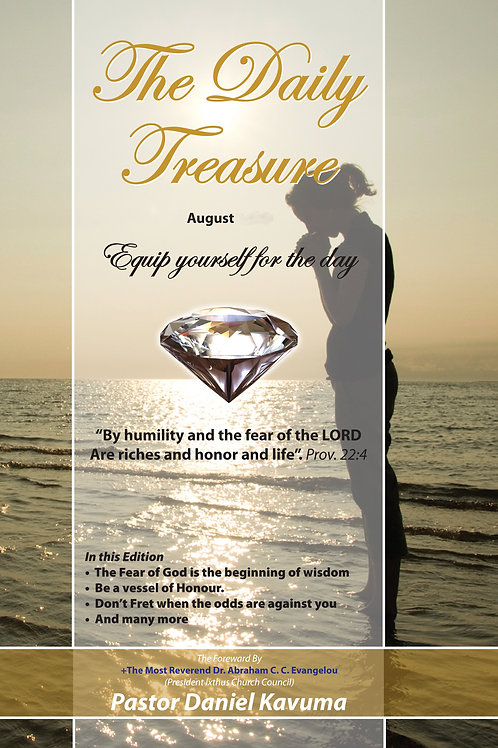 THE DAILY TREASURE: August Daily  Devotional - PaperBook
