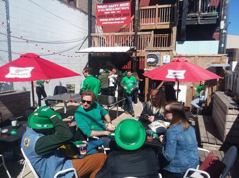 Beer Garden on St. Patricks 2018