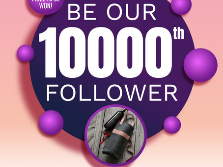 Be our 10,000th Facebook Follower to walk away with a prize!