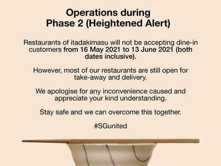 Update due to Phase 2 (Heightened Alert)