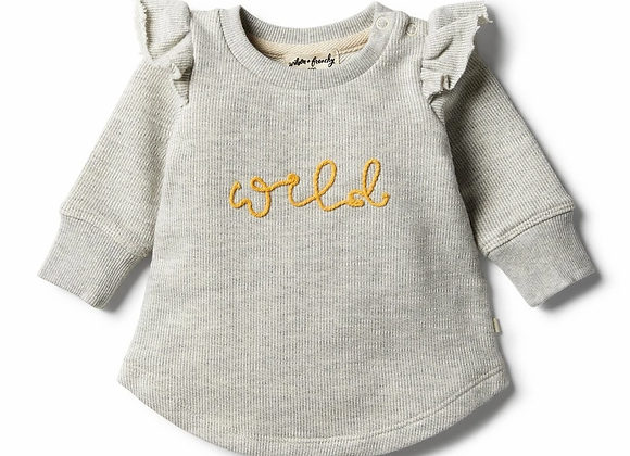 Sweat Ruffle Oatmeal Speckles - Wilson & Frenchy