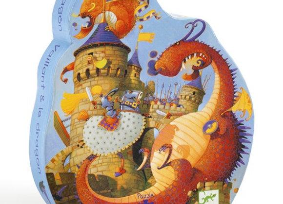 Puzzle Vaillant et le dragon - Djeco