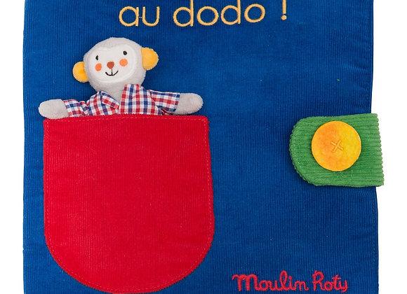 Livre tissu Ma journée Les Popipop - Moulin Roty