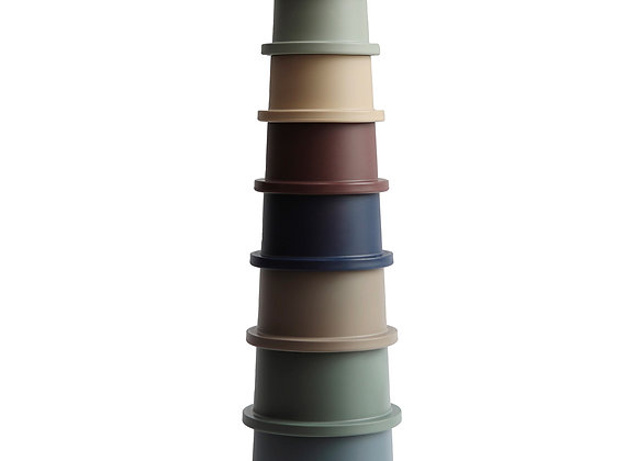 Set de gobelets empilables forest - Mushie