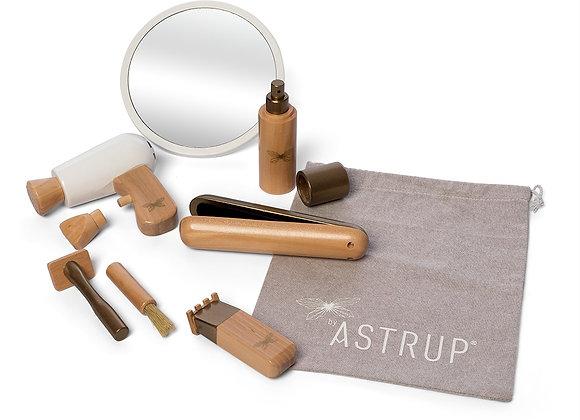 Set 9 pièces accessoires coiffure en bois