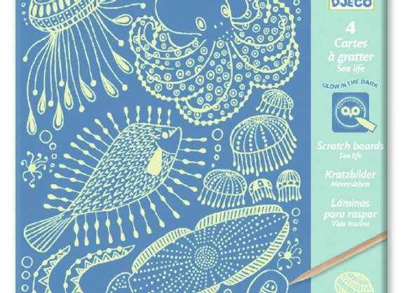 Cartes à gratter Sea life - Djeco