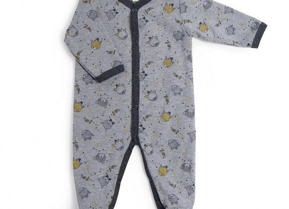 Pyjama jersey gris chiné allouer chats Les Moustaches - Moulin Roty