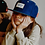Thumbnail: Casquette daim Suede Navy - Hello Hossy