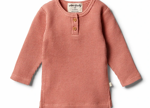 T-shirt Henley Waffle Clay - Wilson & Frenchy