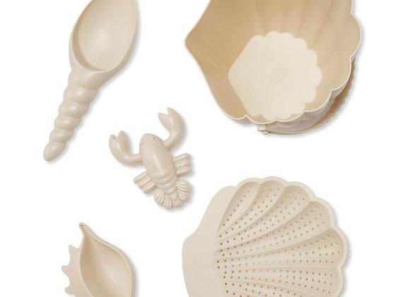 Set de plage Coquillage beige - Konges Slojd
