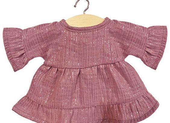 """Robe """"LUCIA"""" en coton double gaze Lurex Rosethé - Minikane"""