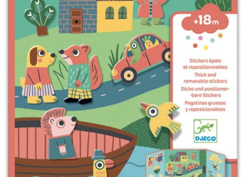 Stickers repositionnables Les animaux - Djeco
