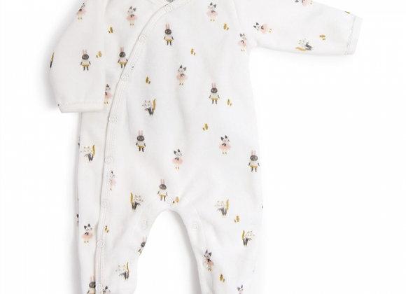 Pyjama velours Après la pluie - Moulin Roty