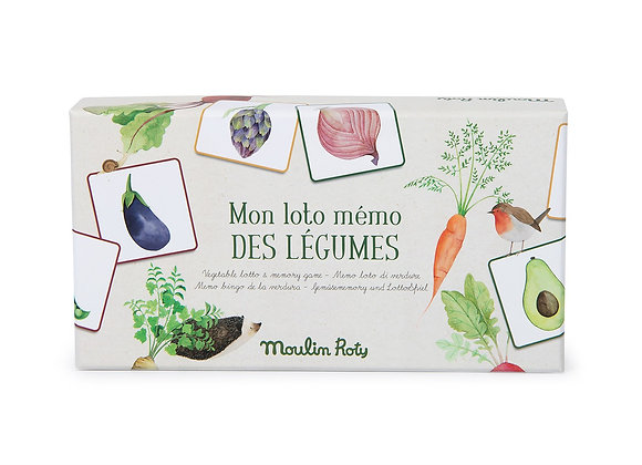 Mon Loto Mémo des légumes - Moulin Roty