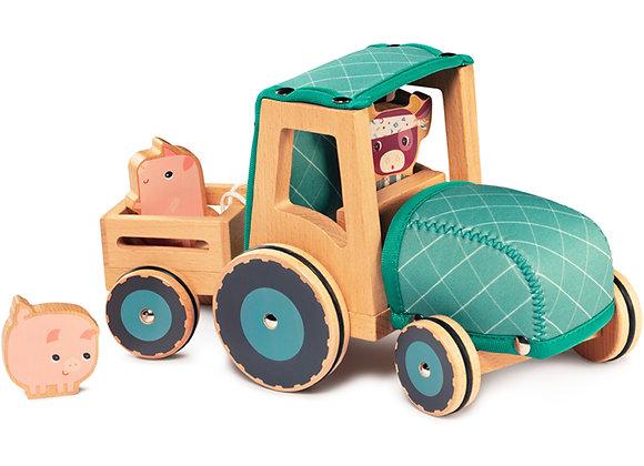 Tracteur en bois Rosalie la vache - Lilliputiens
