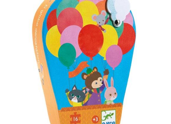 Puzzle La montgolfière 16 pcs - Djeco