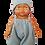 Thumbnail: Salopette gaze boderie anglaise bleue - Maman poule et papa coq