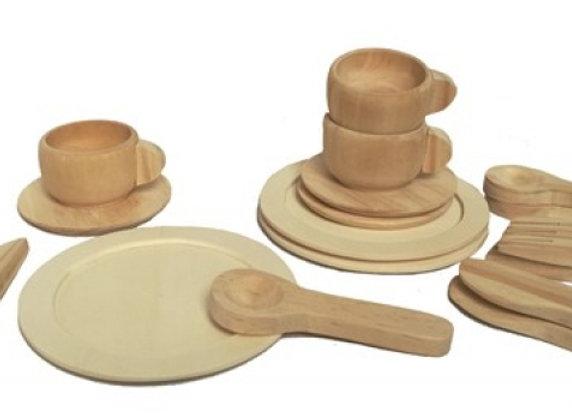 Dinette en bois naturel - Egmont Toys