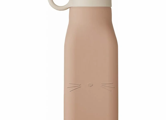 Bouteille gourde en silicone chat rose - Liewood