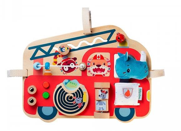 Panneau d'activités camion de pompier - Lilliputiens